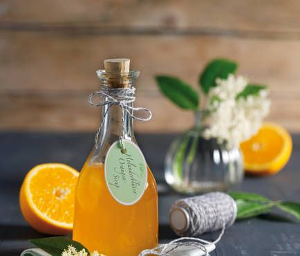 Holunderblüten-Orangen-Sirup
