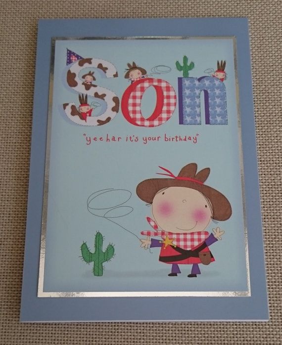 Handmade 5 x 7 Greeting Card  Son by BavsCrafts on Etsy