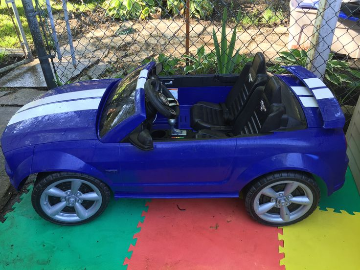 Power Wheels Blue Ford Mustang 2 seater | Kids Heaven in ...