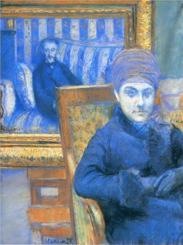 Gustave Caillebotte (French 1848–1894) - Portrait of Madame X, 1878. Pastel. Musée Fabre, Montpellier.