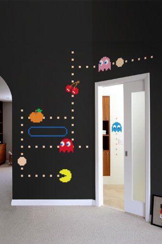 Pac-Man Wall Decals #ManCave - Geek Decor