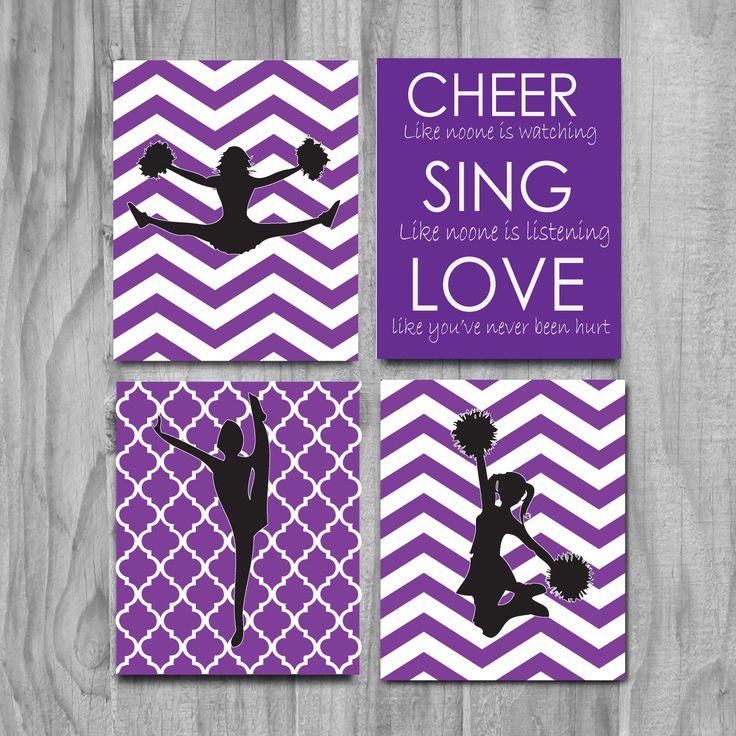 Cheerleading Gift, Cheer Art, Cute Cheer Gift, Cheerleading Wall Art, childrens art, inspirational quote, christmas present, kids art, art by gymnasticsgifts on Etsy https://www.etsy.com/listing/213538717/cheerleading-gift-cheer-art-cute-cheer