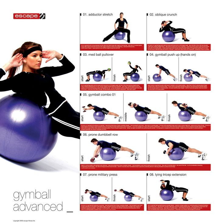 Stability Ball Workout Routine: 305 Best Images About Ball And Band Exercise On Pinterest