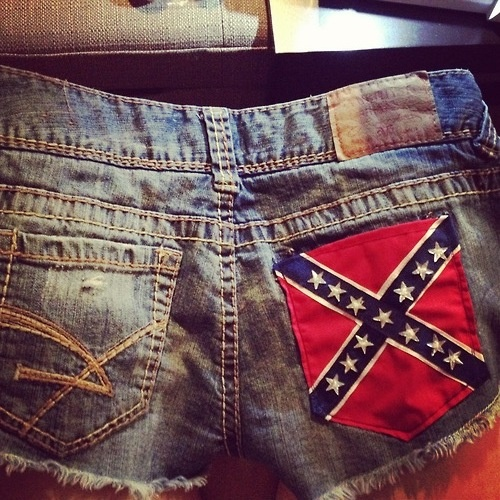 Rebel flag shorts. I might make this soon :)
