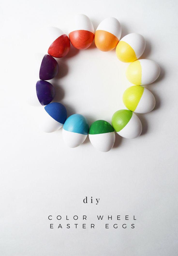 color wheel eggs -- wee little penguin