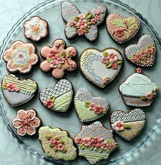 Prachtige versierde koekjes