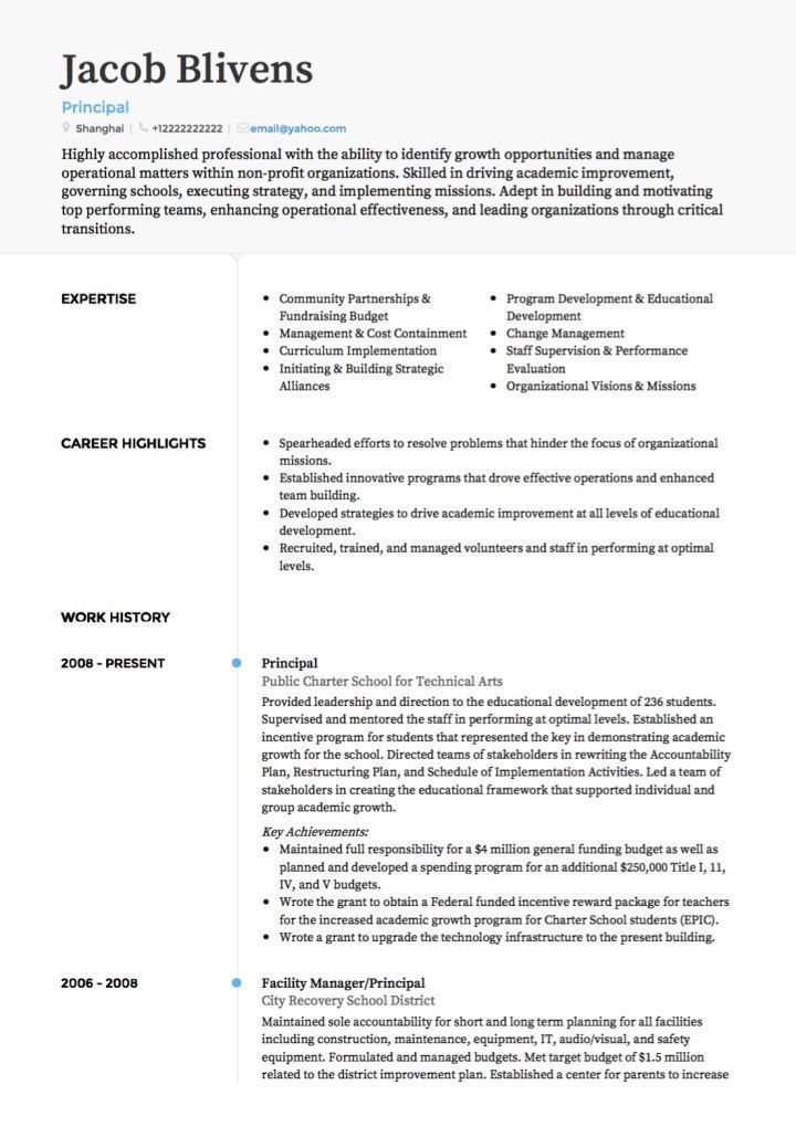 A Teacher Resume Examples ResumeExamples