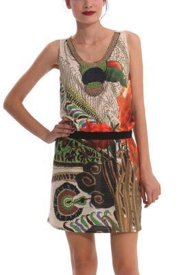 Desigual women's Knitocho dress from the Desigual by L range. You'll be able to boast that your wardrobe contains an item designed by Mr. Lacroix that was on the catwalk at New York Fashion Week. Wow!