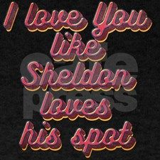 i love you like Sheldon loves his spot