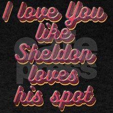 i love you like Sheldon loves his spot