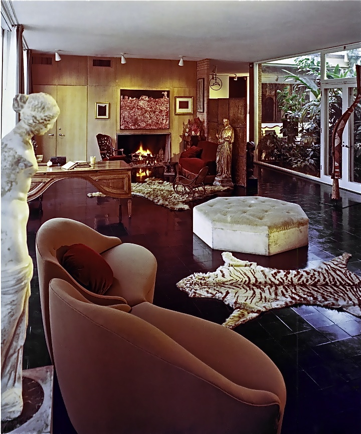 Menil House Living Room Charles James Sofa In Foreground The Archives Collection Houston