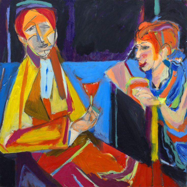 Beautiful painting  ' Love '  by artist Ezequiel Rosenfeldt (oil painted on canvas 100x100 cm) at Ricci & Lastiri online Art Gallery. @riccilastiri Be Smart By Art