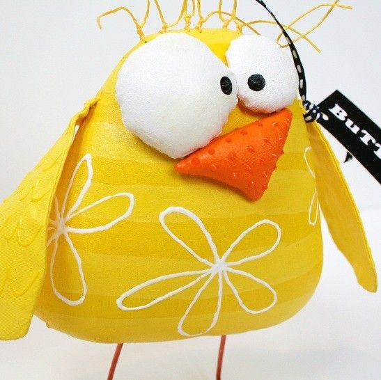 Sold  Sold  Sold  Chick Named BageL  Bright Yellow by buttuglee - Have one of these at my desk so cute he makes me smile!  Great for easter baskets!