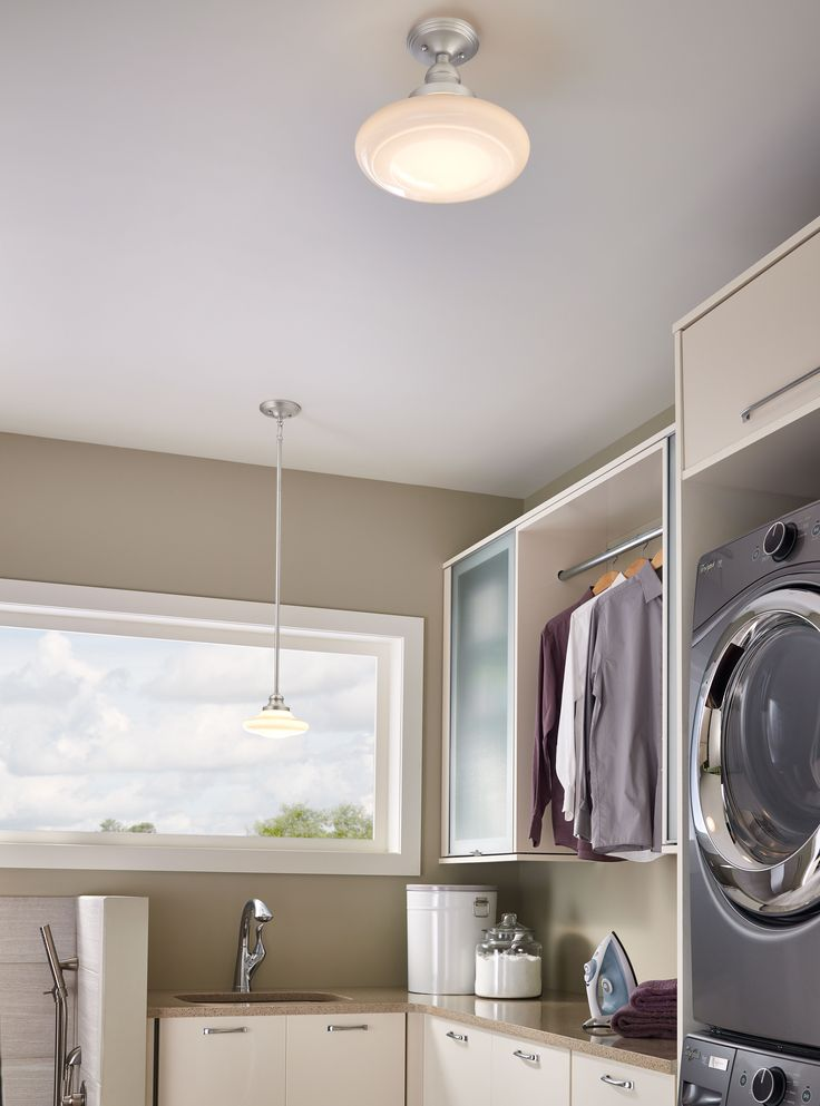 Learn Tips For Laundry Room Lighting Options From Kichler Lighting To Fit Your Style In High Traffic Areas Such As Closets Utility Rooms And Mud Rooms