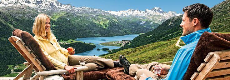 Sommer in Engadin St. Moritz, Graubünden, Schweiz