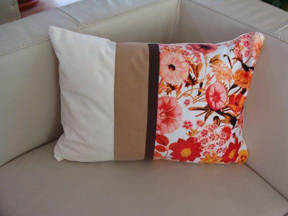 Decorative Flowers Pillow Cover, Modern Home Decor, Assorted Colors and Floral Design, (14X20), Unique Model, Modern Model, Modern Pillow,