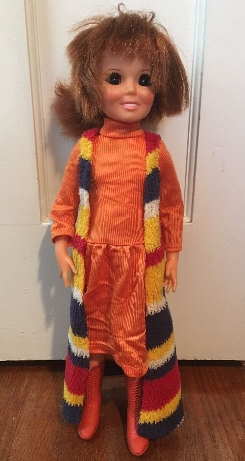 1971 Movin' Groovin' Crissy Original Orange Dress Outfit Boots Hair Grows | eBay