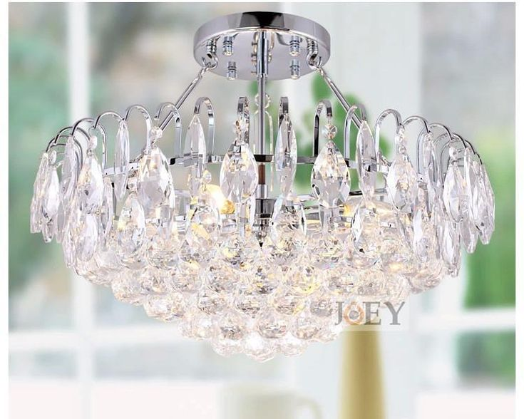 Modern Crystal Chandelier Decorative Home Chandeliers Simply Lamps For Dining Room Entry Foyer Lighting W/ Led E14 Lamp 9071