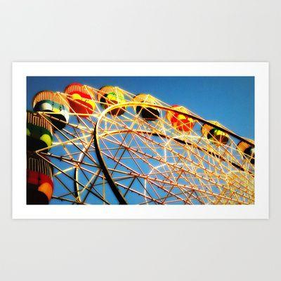 Ferris Wheel Art Print by Sheridan van Aken - $17.68