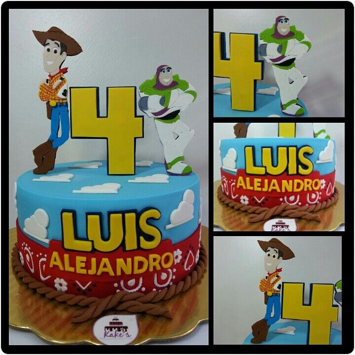 Toy Story Cake de Kake's/Wood and Buzz Lightyear