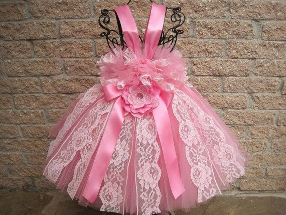 First Birthday . PRINCESS PINK LACE, Tutu Dress, Babies 3-24 Months, Bit of Fluff Stretch Bodice, Weddings, Gifts, Photo Shoot, Girl Gift.