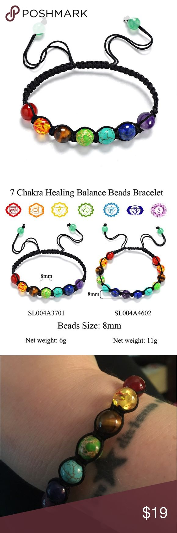 7 Chakras Healing Balance beads, bracelet/anklet Limited supply . Well made. Adjustable size with pull strings. Boho yogi fashion. Balance your chakras! (Free people tagged for exposure- item NOT free people brand) Free People Jewelry Bracelets