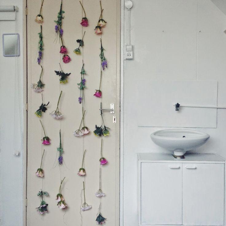 Boncolor: DIY: Flower Wall