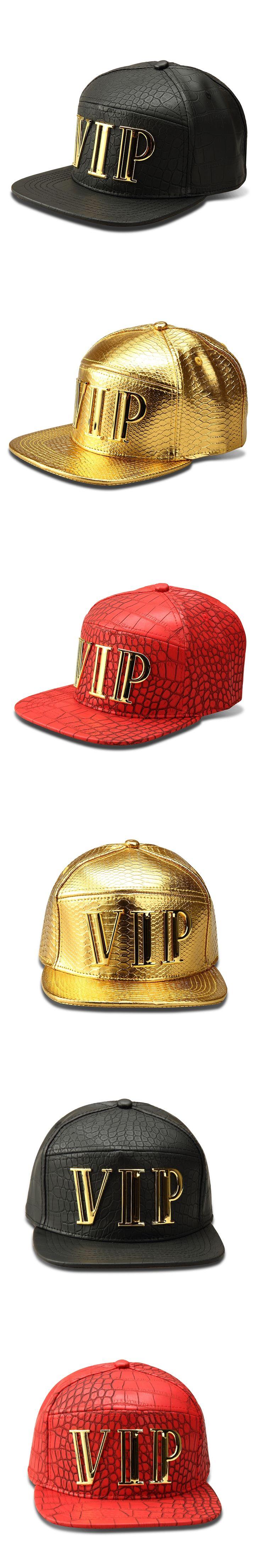 NYUK New Arrival Snapback Baseball Cap Hat Hip Hop PU Leather Caps Bones For Men Women Sports Fashion With Metal Letter VIP Logo