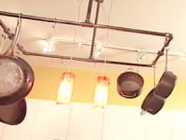 Clever Kitchen Ideas: Industrial Pot Rack : Rooms : Home & Garden Television