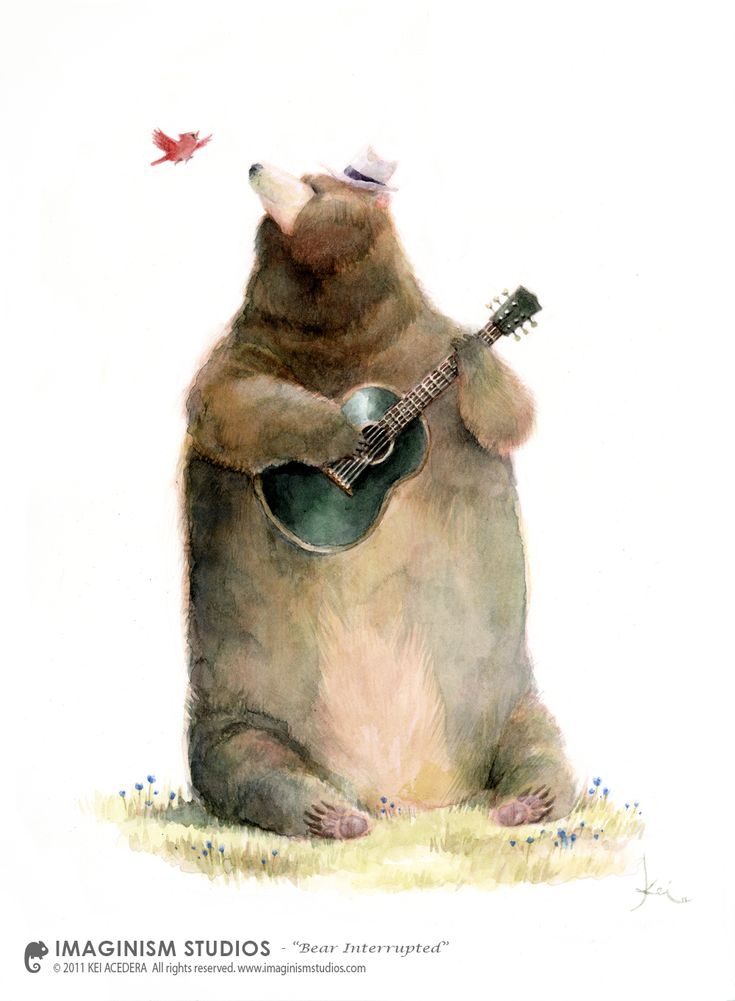 Bear Interrupted by Kei Acedera (imaginism) ★ Find more at http://www.pinterest.com/competing/