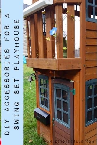 DIY Accessories for the Swing Set Playhouse: How to make a swing set playhouse more exciting and fun for children with some easy accessories.