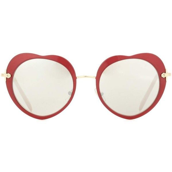 e7f047a3be631 Miu Miu Red Heart Sunglasses
