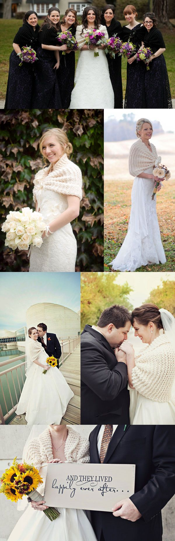 Elegant Knitting - Bridal wool boleros & shawls for a winter wedding