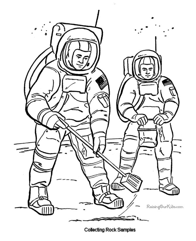 astronauts pic to print and color
