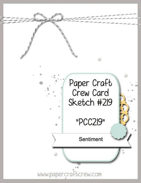 Play along with the Paper Craft Crew Card Sketch 219 - PCC219