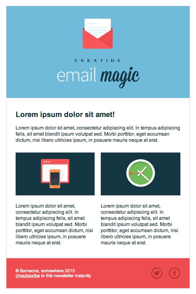 Final Image - Build an HTML Email Template From Scratch