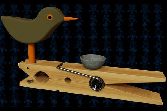 Clothespin Drinking Bird Wooden Toy - Autodesk 3ds Max,STEP / IGES,SOLIDWORKS,Parasolid,AutoCAD - 3D CAD model - GrabCAD