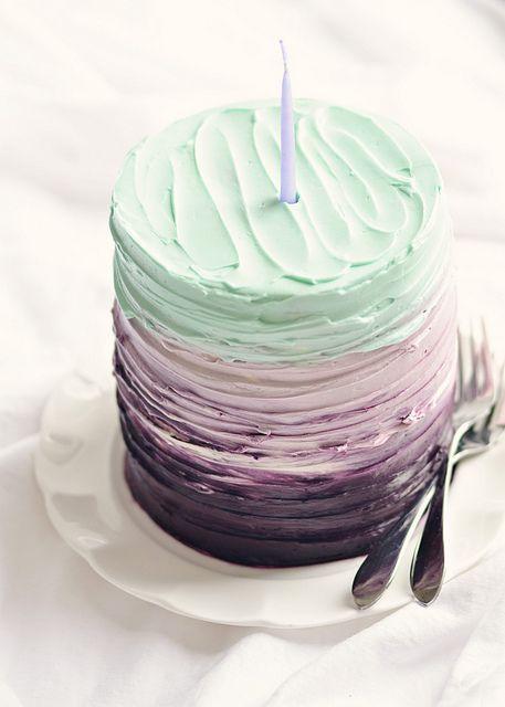 Vanilla Blackberry-Cake for Two