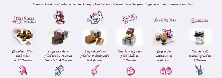 Shop unique gourmet chocolates, luxury cakes and chocolate gifts from Wonderland at Lucky's London UK