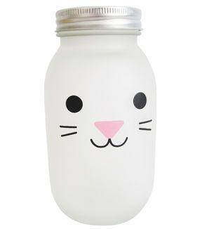 Easter Bunny Rice Light Bottle-White