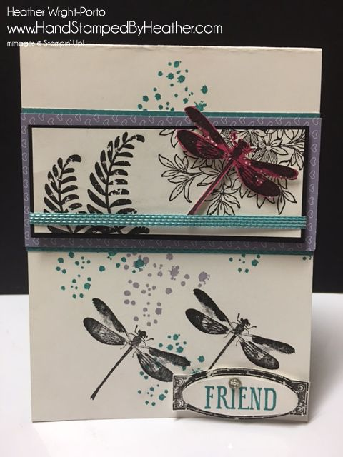 Hand Stamped By Heather Wright-Porto: Stampin' Up! Awesomely Artistic: Color Challenge