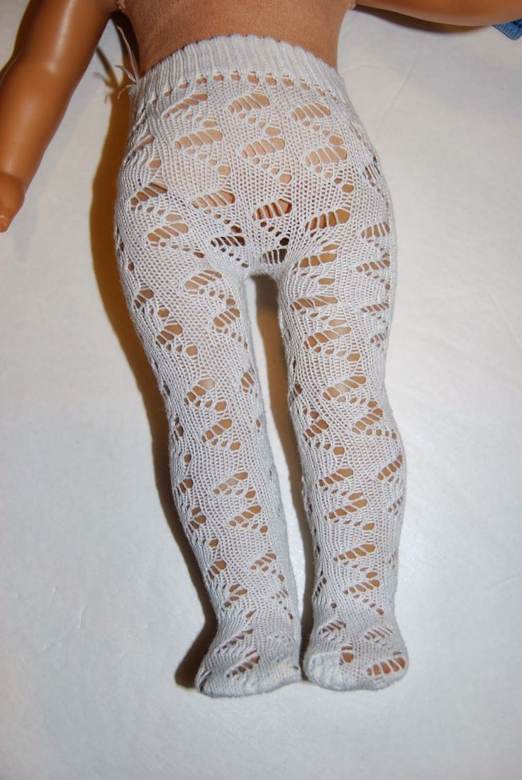 """American Girl 18"""" Doll Tights from a Ladies Sock Tutorial"""