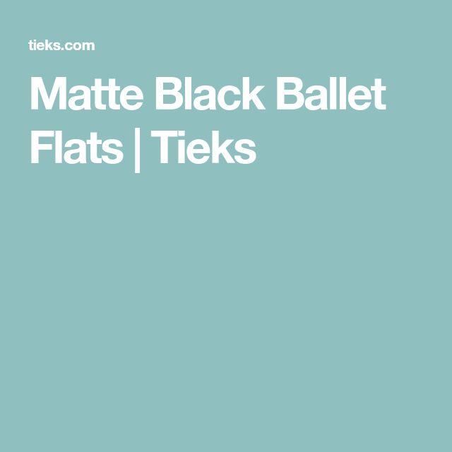 Matte Black Ballet Flats | Tieks