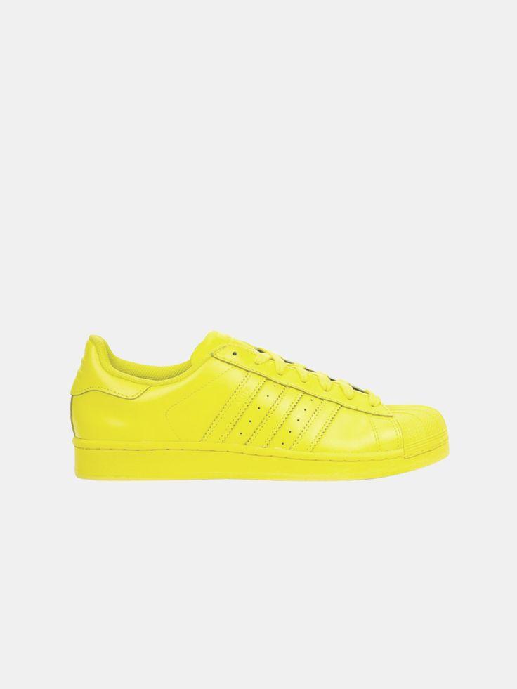 ADIDAS X PHARRELL , Kadın Superstar Supercolor Bright Yellow  #shopigo#shopigono17#shoponline#womenswear#sneakers