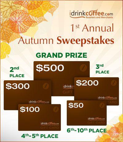 iDrinkCoffee.com 1st Annual Autumn Sweepstakes
