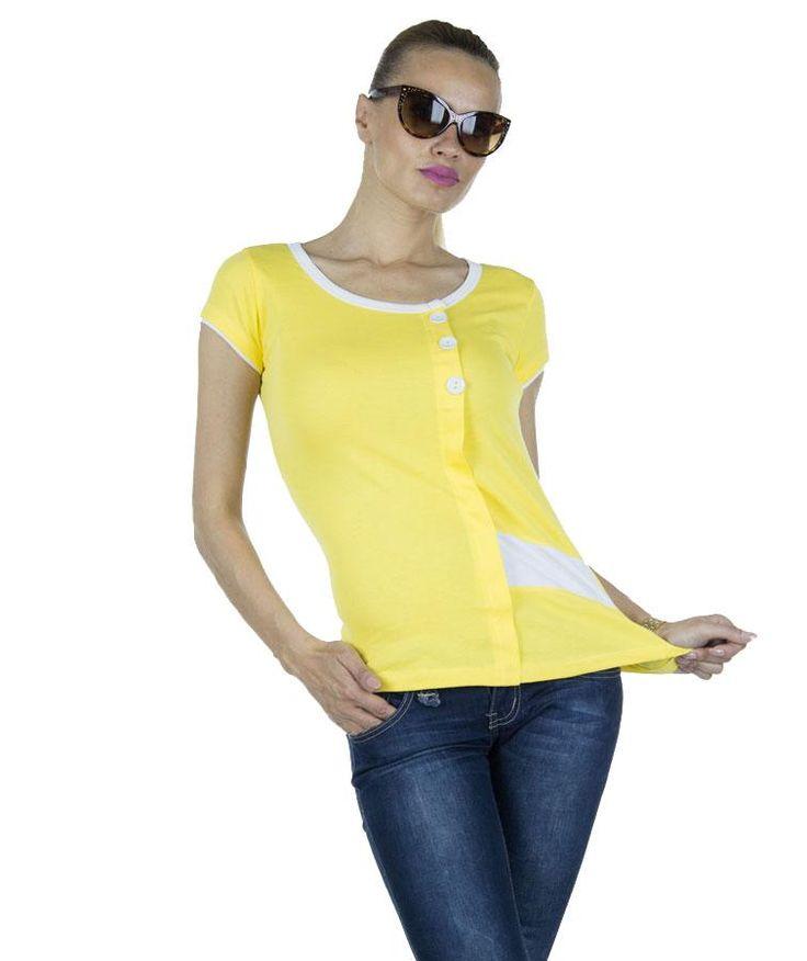 Tricou Dama Yellow Invasion  -Tricou dama  -Design sport  -Model ce pune in evidenta silueta     Lungime: 60cm  Latime: 35cm  Compozitie: 100%Bumbac