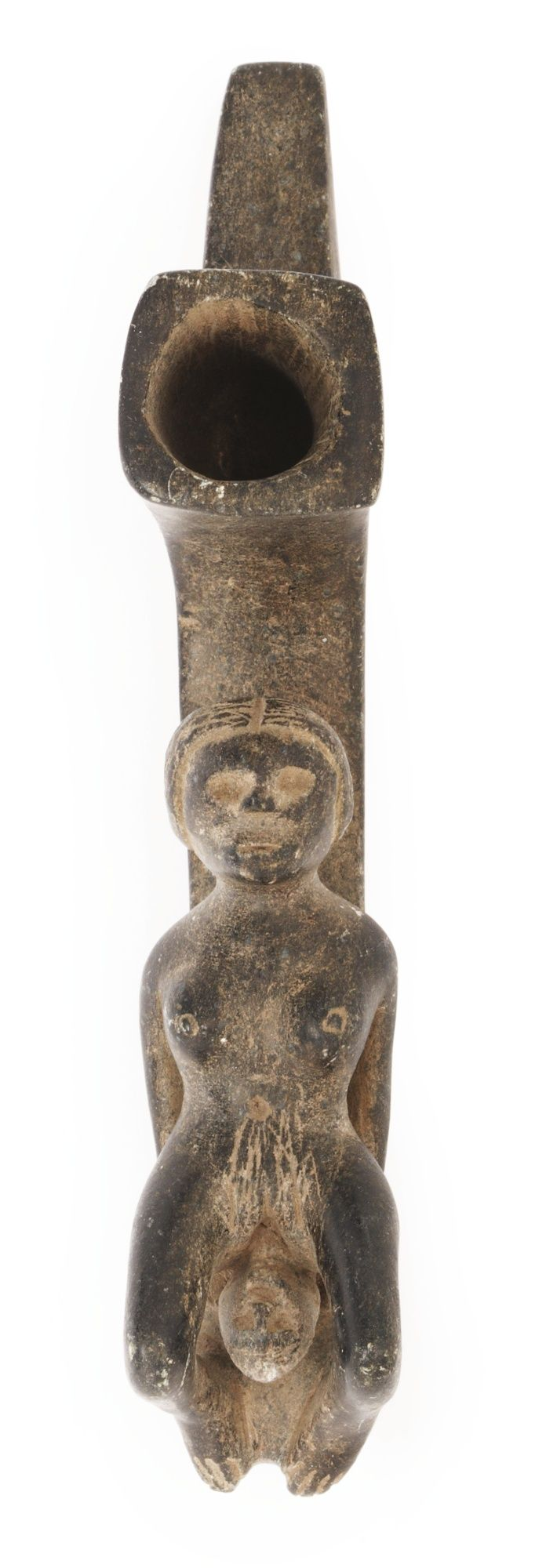 Cherokee Stone Figural Pipe, Eastern Woodlands