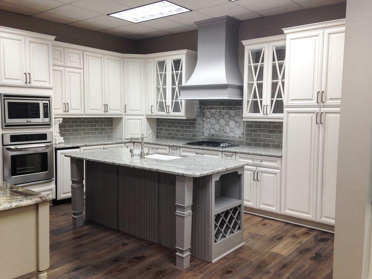 Kitchen Demo Wellborn Cabinets In Glacier Java And Dove