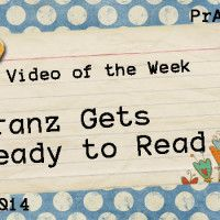 Video of the Week: Franz Gets Ready to Read