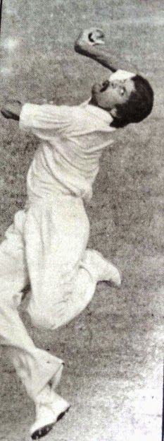 Indian all rounder Kapil Dev in 1978, who's famous for his leg cutters